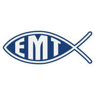 EMT Christian Fish Decal