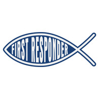 First Responder Christian Fish Decal