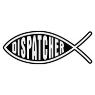 Dispatcher Christian Fish Decal