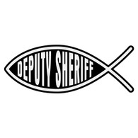 Deputy Sheriff Christian Fish Decal