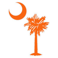 South Carolina Tree & Moon Decal