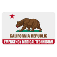 California Emergency Medical Technician Flag Decal