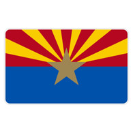 Arizona Flag Reflective Decal