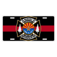 Prescott Arizona Granite Mountain Hot Shots Memorial Auto License Plate