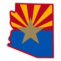 Arizona Flag on Arizona Outline Reflective Decal
