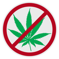 Anti-Marijuana Decal
