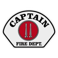 Full Color Captain w/ Vertical Bugles Helmet Front