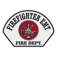 Full Color Firefighter EMT Helmet Front