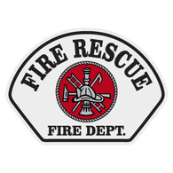 Full Color Fire Rescue Helmet Front