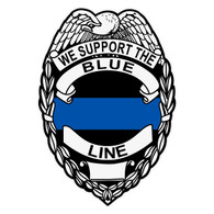 We Support The Blue Line Decal