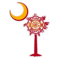 Maltese Cross on South Carolina Tree & Moon
