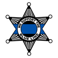 We Support The Blue Line on Sheriff Star Decal