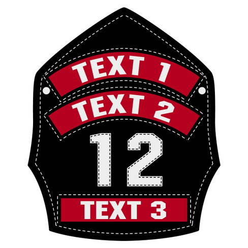 Custom Leather Helmet Front Decal The Emergency Mall - Custom reflective fire helmet decals