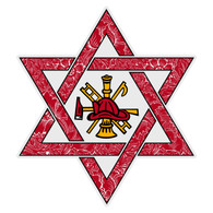 Jewish Firefighter Star of David Decal