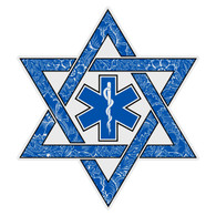 Jewish EMT Paramedic Star of David Decal