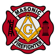 Masonic Firefighter Maltese Cross Decal