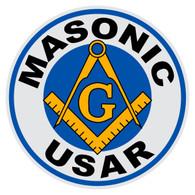 Round Masonic USAR Decal