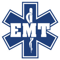 EMT on Star of Life Decal
