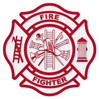 S2 Fire Fighter Maltese Cross Decal