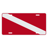 Dive Flag Auto License Plate
