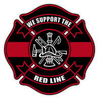 We Support the Red Line Decal