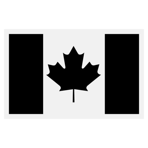 Black Canadian Flag Decal The Emergency Mall