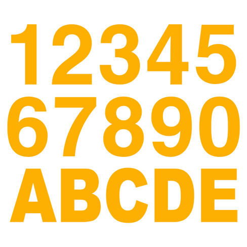3m Yellow Reflective Letters Amp Numbers
