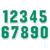 Green on White Reflective Shadow Letters & Numbers