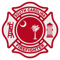 S2 South Carolina Firefighter Maltese Cross Decal