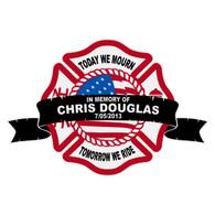 Chris Douglas Memorial Maltese Cross Decal