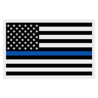 Black American Flag with Blue Line Decal