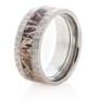 Hammered Titanium Camo Ring