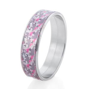 Animal Camo Pink Bangle Bracelet
