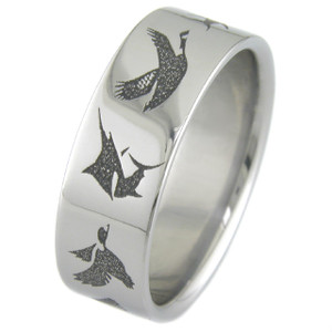 Animals All Around Me Wildlife Wedding Band