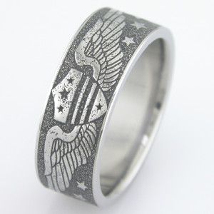 Vintage Aviation Wedding Ring