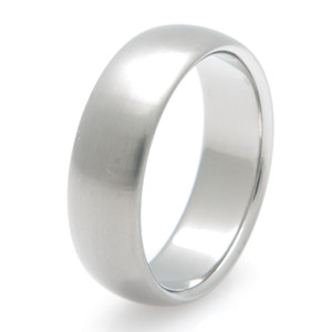 Basic Domed Titanium Ring