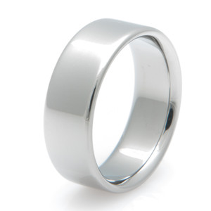 Basic Flat Profile Titanium Ring