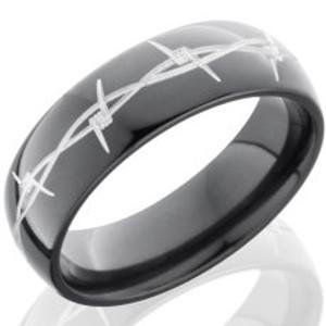 Black Zirconium Barbwire Ring