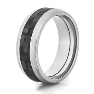 Gun Metal Carbon Fiber Ring