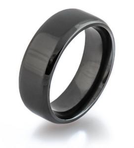 Beveled Black Zirconium Ring