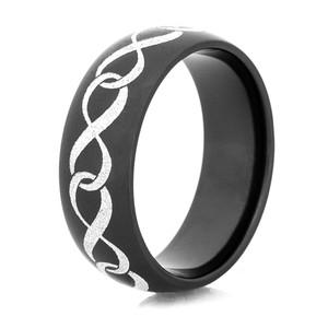 Black Zirconium Infinity Symbol Ring