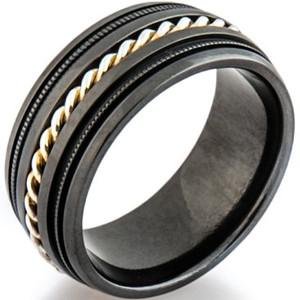 Black Zirconium Milbraid Ring
