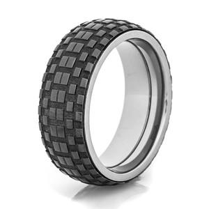 Men's Black Tread Spinner Ring