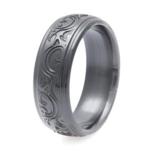 Black Zirconium Corral Western Ring