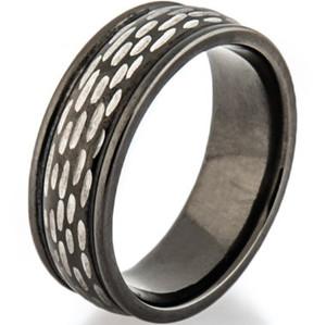 Black Zirconium Disc Ring