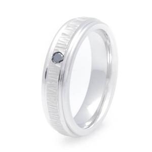 Women's Treebark Cobalt Chrome Black Diamond Ring