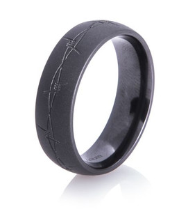 Barbwire Flat Black Band