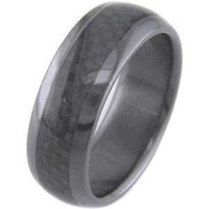 Black Zirconium and Carbon Fiber Ring
