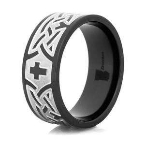 Black Celtic Cross Ring