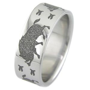 Titanium Wild Boar Ring